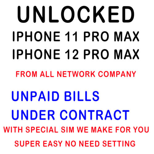 AT&T T-mobile Unlock Service iPhone 12 Pro Max Unpaid bills Under Contract