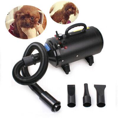 2400W Perro Gato Mascota Secador Higiene Pelo Ajustable Velocidad Radio Soplador