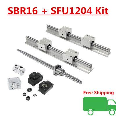16mm Linear Rail Sbr16 Guide Kit Sfu1204 Blallscrew 1set Bkbf10 Coupler