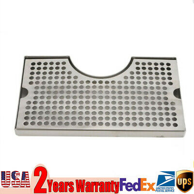 New Tap Draft Beer Kegerator Tower Drip Tray Surface Mount No Drain 5x1.75 Usa