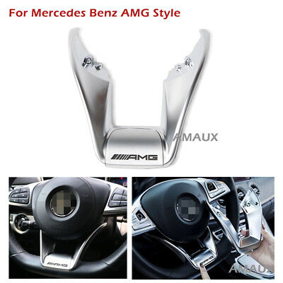 For Mercedes Benz W218 W205 AMG Steering Wheel Low Cover Trim New Year On