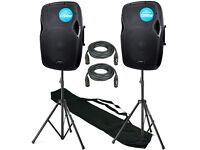 Full range active speakers