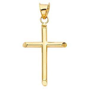 14k Solid Gold Crucifix eBay