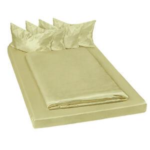 Parure de lit satin 6 pcs housse de couette 200x150 housse for Housse de couette vert d eau