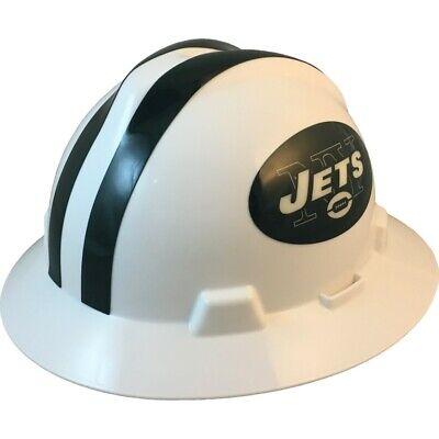 New York Jets Msa Nfl Full Brim Hard Hat With Fas Trac Suspension