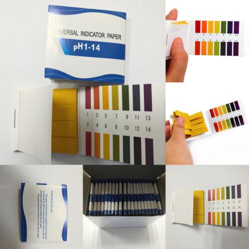 80 Strips Full Range pH Alkaline Acid 1-14 Test Paper Water Litmus Testing Kit