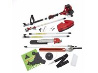 5 in 1 52cc Petrol Hedge Trimmer Chainsaw Strimmer Brushcutter Garden Multi Tool
