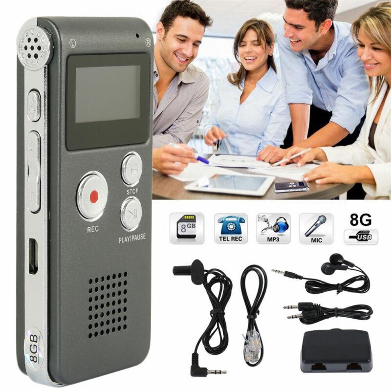 Diktiergerät USB 8GB Digital Audio Voice Recorder Aufnahmegerät Sprachaufnahme