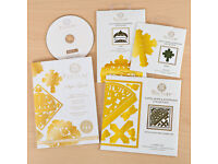 New Boxed Couture Faith, Hope and Happiness Collection Craft Dies & Backing Paper CD Rom