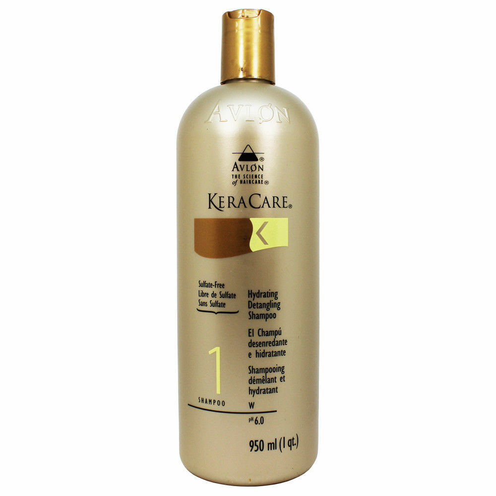 Avlon Keracare Hydrating Detangling Shampoo – Sulfate-Free 32oz Hair Care & Styling