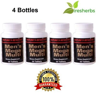 1 Best Mens Mega Multivitamin Active Male Pills Dietary Supplement 120 Tab Lot