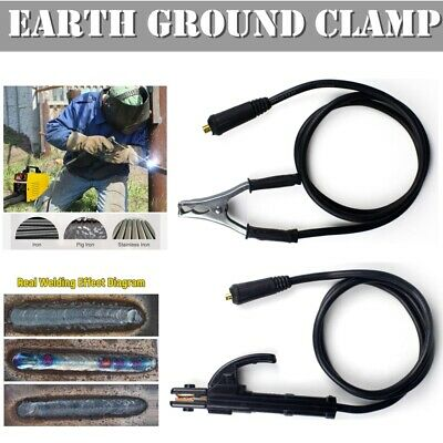 Welding Earth Clamp Cable 300A 1.5M Welder Ground Cable For ARC MMA DC Inverter