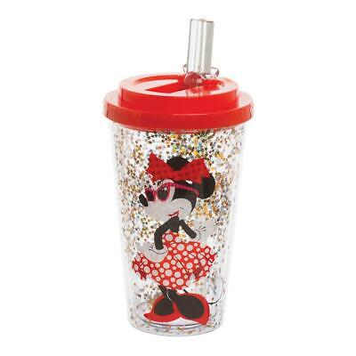MINNIE MOUSE - ICONIC - FLIP STRAW CUP - BRAND NEW - 16 OUNCES PLASTIC 89314 (Minnie Mouse Plastic Cups)