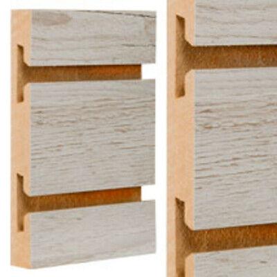 Weathered Barnwood Standard Cut Slatwall Panels 4 H X 8 W Feet