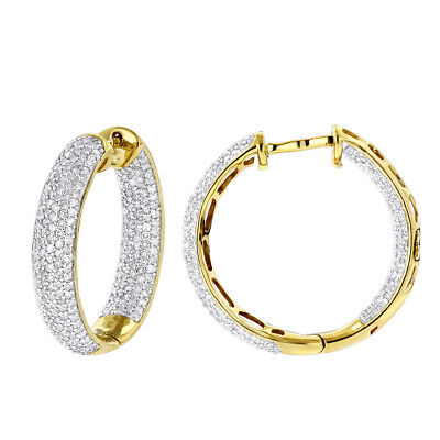 Ohrschmuck Creolen Diamanten 14K Gelbgold Goldschmuck Fabrikverkauf Outlet neu