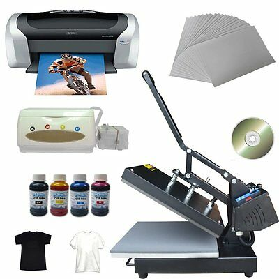 Flat Heat Press Printer C88 Ciss Ink Inkjet A4 Paper T-shirt Cd Transfer Kit