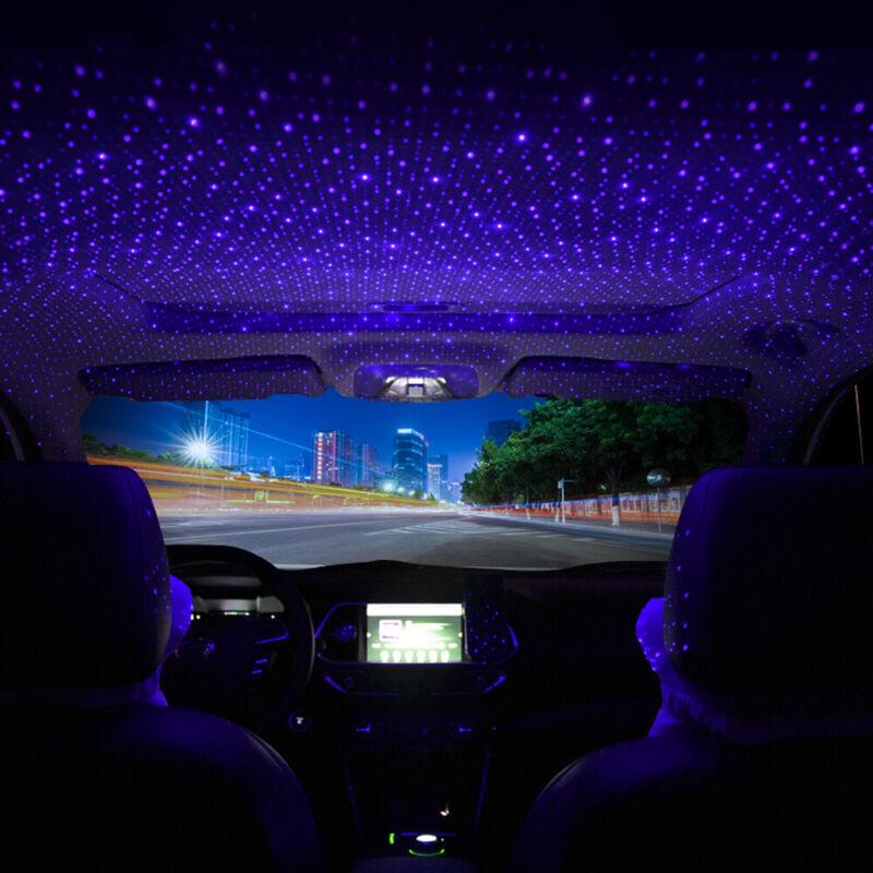 USB Car Interior Roof Star Night Light Atmosphere Starry Sky Lamp Star Projector
