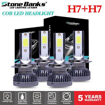 4pcs  Mini H7 COB LED Headlight Bulbs 1200W 260000LM 6000K White Lamp HiLo Beam