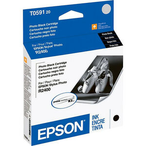 Genuine-Epson-T0591-photo-black-R2400-new-ink-T059120-2400-59-591