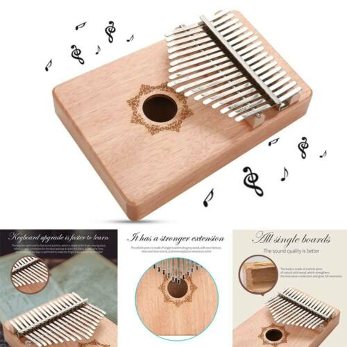 17 Key Kalimba Thumb Piano Finger Mahogany Music for beginner professioner
