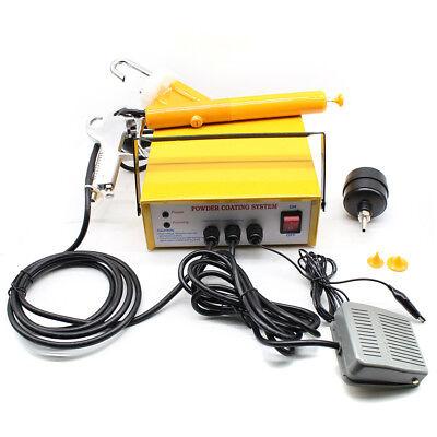 220v Portable Electrostatic Powder Coating System Pc03-5 Paint Spray Gun 25 Ns