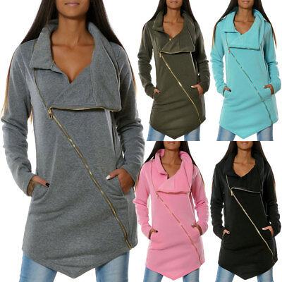 Winter Pullover Sweatshirt (Damen Pullover Winter Pulli Sweatshirt Sweatjacke Sweater Hoodie Mantel No 15939)
