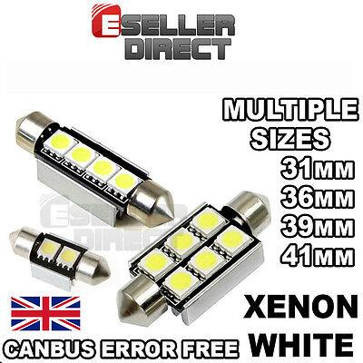31mm36mm39mm41mm42mm CANBUS ERROR FREE SMD LED FESTOON BULB C10W C5W   WHITE