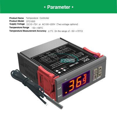 Ac 110-220v Stc-1000 Digital Thermostat Temperature Controller Aquarium Sensor