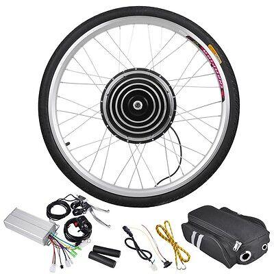 "48V1000W26"" Front Wheel Electric Bicycle Motor Kit E-Bike Cycling Hub Conversion"