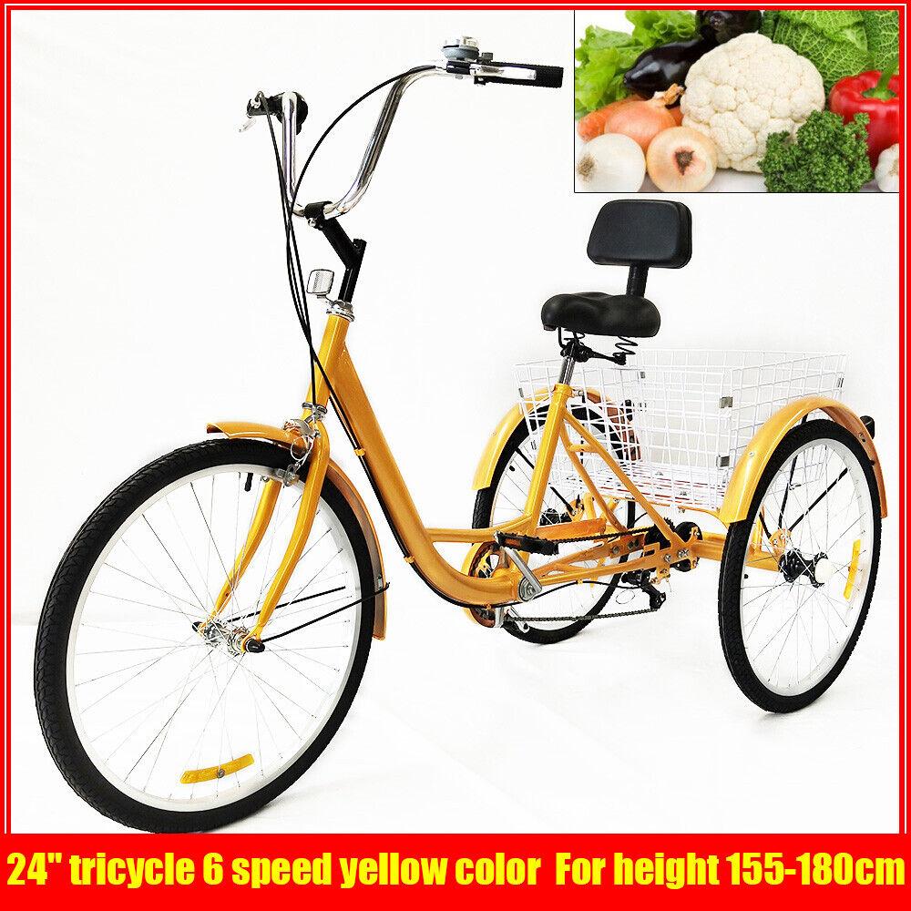 24 zoll alu dreiad fahrrad dreirad f r erwachsene 6gange. Black Bedroom Furniture Sets. Home Design Ideas