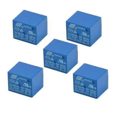 10pcs Mini Module Srd-5vdc-sl-c Spdt 5 Pins Plastic Coil Power Relay Dc5v