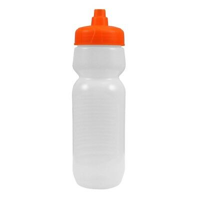 100 Bulk Pack 24 Ounce Water Bottles - Frosted Bottle With Orange Lids USA Made