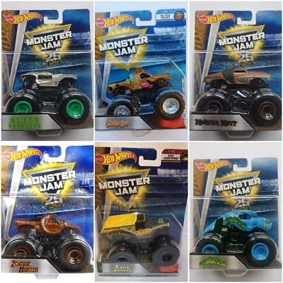 HOT WHEELS MONSTER JAM TRUCK RE-CRUSHABLE CAR ASSORTMENT CHOOSE