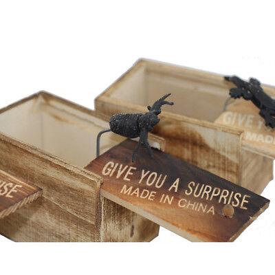 Funny Wooden Prank Spider Hidden in Box Scare Box Joke Props Toys Gifts Random - Halloween Scare Pranks
