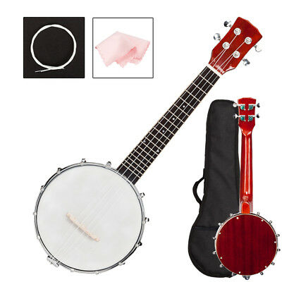 New Sapele Material Professional 4 String Banjo with Bag and Accessories