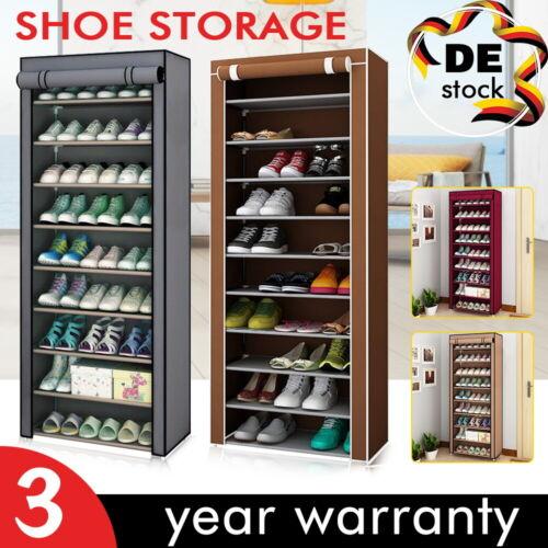 NEU 10-Schicht Schuhschrank Schuhablage Schuhregal Schuhständer Vliesstoff DHL
