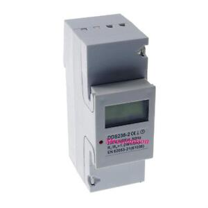 5-65A-120VAC-60Hz-Single-Phase-DIN-rail-Kilowatt-LED-Hour-kwh-Meter-CE-Proved