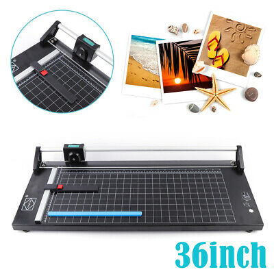 Desktop 36 Rotary Paper Cutter Sharp Photo Paper Trimmer Rolling Cutter Machine