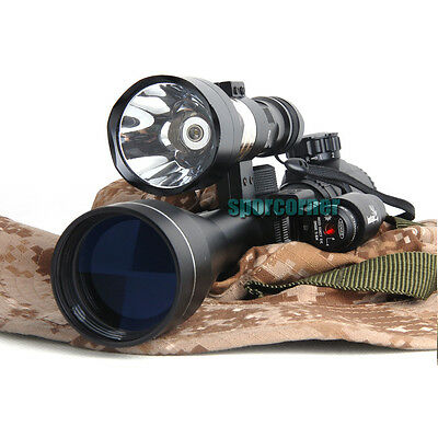 professional new Illuminated 3-9X40 rifle SCOPE + 600 Lumens torch+red dot laser