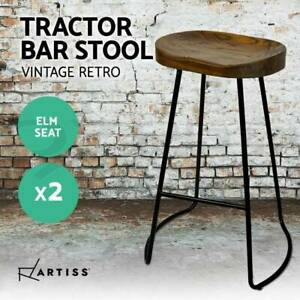 2 x Vintage Tractor Bar Stools Retro Bar Stool Industrial Dining Perth Perth City Area Preview