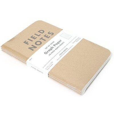 Field Notes Wirebound Notebooks Kraft Graph 3-Pack