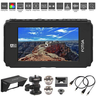 FOTGA DP500IIIS A50T 5-inch Camera Filed Video Monitor Touch Screen 4K HDMI FHD