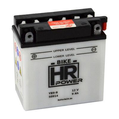 Motorradbatterie 12V 9Ah 50914 YB9-B CB9-B inkl. Säurepack *NEU*