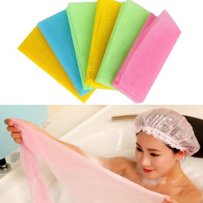 Exfoliate Puff Bath Towel Scrubbing Towel Nylon Wash Cloth Mesh Bath Shower