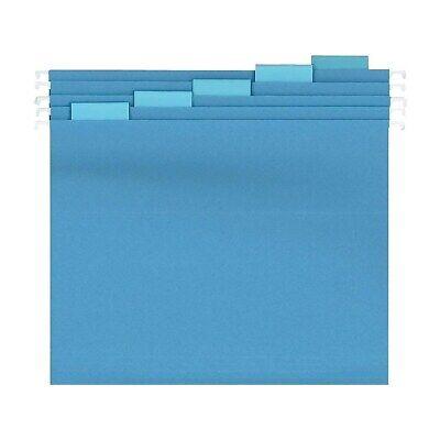 Staples Reinforced Hanging File Folders 5-tab Letter Size Blue 25bx 863737