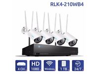 Reolink Wireless WiFi Camera System Kit 4CH NVR 1TB HDD Home CCTV RLK4-210WB4