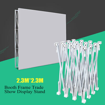 Office Use Portable Pop-up Booth Frame Trade Show Display Stand For Wall Sign-in