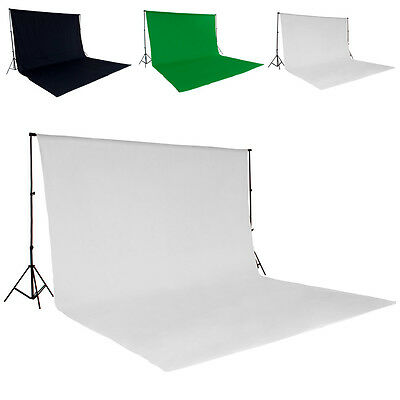 support de fond studio photo tissu 3x6m kit avec sac