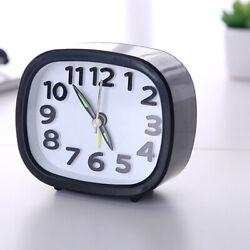 Rectangle Small Bed Compact Travel Quartz Beep Alarm Clock Cute Portable