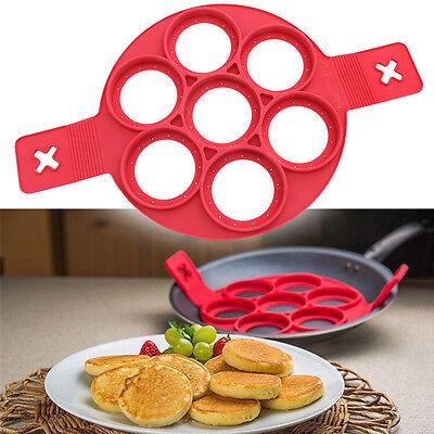 Non Stick Pancake Pan Flip Perfect Breakfast Maker Egg Omelette Flipjack Tools